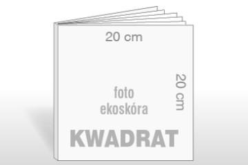 Fotoksiążka 20x20 cm na papierze fotograficznym w okładce z ekoskóry