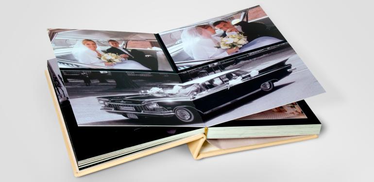 fotoksiążka skóra sztywne karty